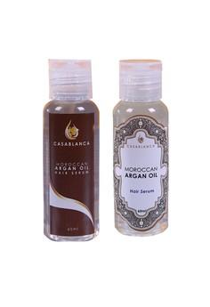Moroccan Argan Oil Hair Serum 60ml (Premium) and Moroccan Argan Oil Hair Serum 60ml (Elite) Bundle