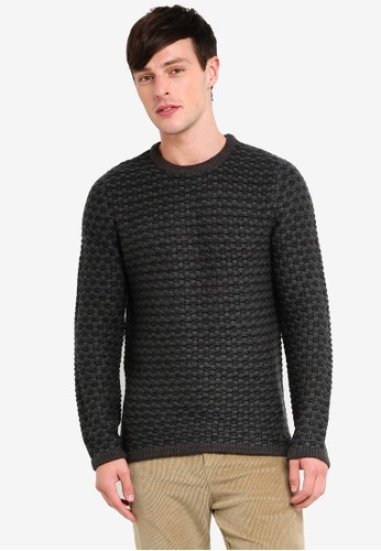 Only & Sons green Detailed Knitted Pullover CABBDAA053C73AGS_1