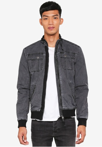 Indicode Jeans grey Cochrane Washed Nylon Bomber Jacket 08748AAD06DF12GS_1