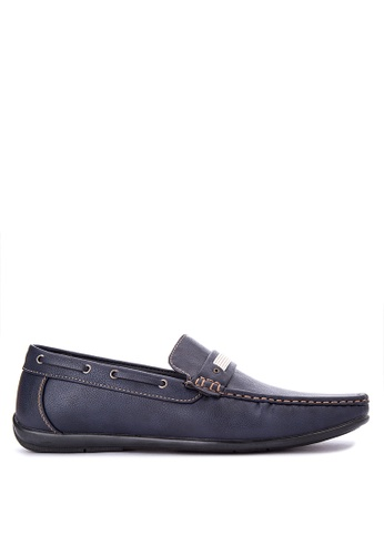 Italianos navy Dennis Loafers IT153SH0IPQZPH_1