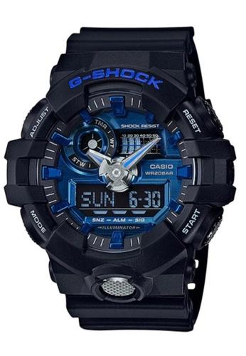 CASIO black Casio G-Shock Blue and Black Resin Watch 3A5A5AC96B127AGS_1