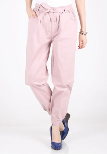 Meitavi's Bowtie Jogger Pants - Dusty Pink