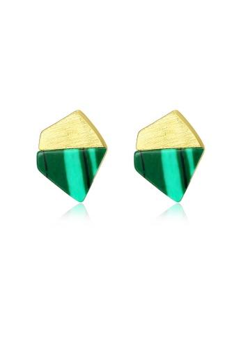 SUNRAIS gold High quality Silver S925 gold simple design earrings BA4F0AC10977DDGS_1