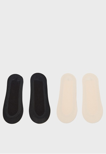 6IXTY8IGHT beige 6IXTY8IGHT Invisible Bonded Mesh, 2 Pair Pack of Ballet Socks AC03485 E6B61AA7FFD324GS_1