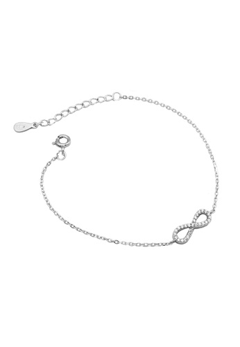 LYCKA silver LDR1257 S925 Silver Infinite Shape Bracelet F029CAC1114FADGS_1