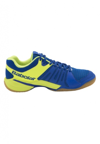 Babolat yellow and blue Shadow Spirit Men's Badminton Shoes BA220SE56QODPH_1
