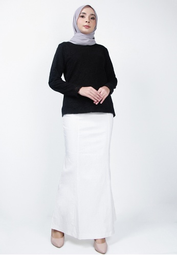 Ladies Jeans 白色 时尚织花长裙 B221BAA1DEEA4BGS_1