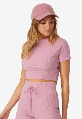 Cotton On Body purple Lifestyle Rib T-Shirt 4B38DAADC7E6A4GS_1