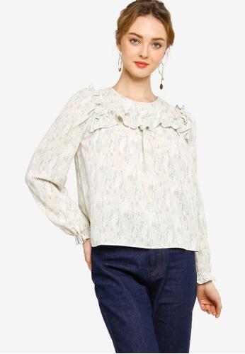 Lubna green Ruffles blouse CD263AA2A3B365GS_1