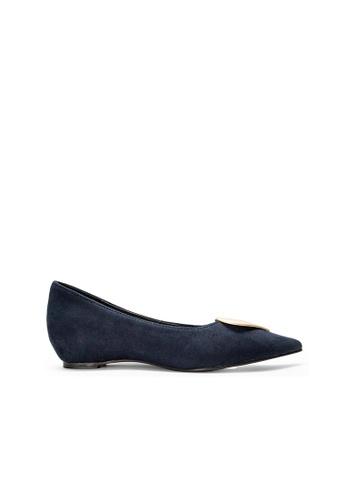 SEMBONIA blue SEMBONIA Faux Suede Ballet Flat (Blue) 841B2SH510BCF0GS_1