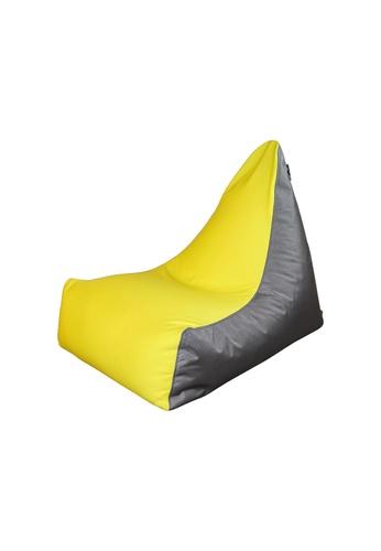 doob grey and yellow and multi FWOOMP - spandex doob bean bag chair (Yummy Yellow) 5ABD8HL89150FCGS_1
