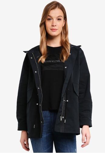 Calvin Klein black Stand Collar Utlity - Calvin Klein Jeans 09FEDAA6F64D63GS_1