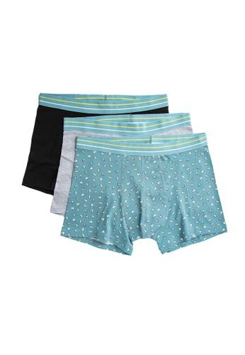 KOTON blue 3-Pack Boxers 501D0US2954552GS_1