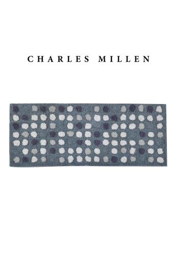Charles Millen SET OF 2 Charles Millen BR-461 ( L )  Polka Dot Tufted Mat/ Bath Mat Mat 50 x 120cm 1.028kg E64B1HL4664922GS_1