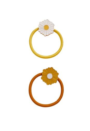 MANGO KIDS yellow 2-Pack Flower Hair Ties 25BCCKC9A0F615GS_1
