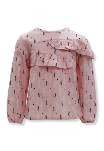 Osella Kids pink Osella Baju Anak Perempuan Blouse Lengan Panjang Motif Pink B14E9KAA21BB6DGS_1