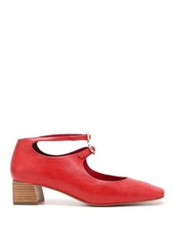 Rabeanco red RABEANCO LIA Block Heels - Red 370B8SH7C160CDGS_1