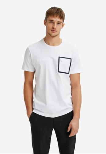 Selected Homme white Interlock T-Shirt E70C1AA7498E24GS_1