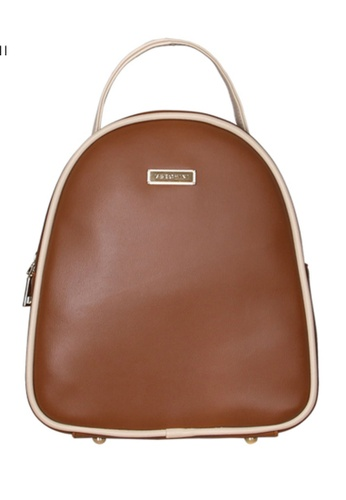Verchini brown Verchini Dome Backpack 9D88DAC96802F7GS_1