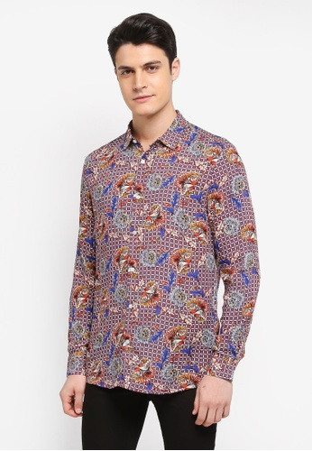 Topman multi Check Floral Shirt 776E6AAF026CDFGS_1