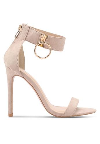Something Borrowed beige Ankle Detail Heels 5EE48SH58DC233GS_1