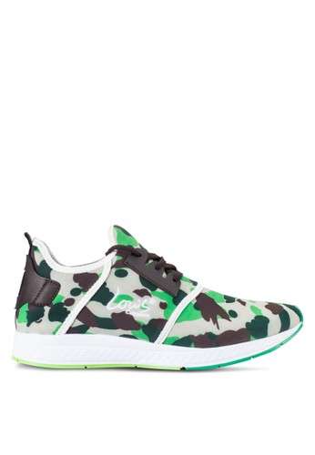 Louis Cuppers green Camouflage Sneakers LO977SH10RDXMY_1