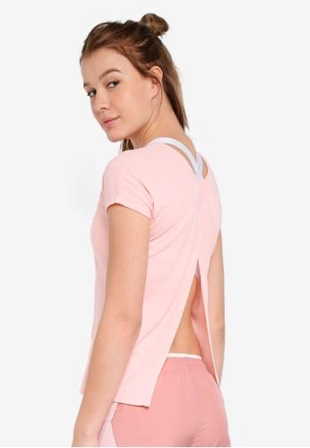 Nike pink As W Nike Miler Top SS SFT LX D6124AA684DDEFGS_1