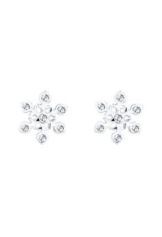 耳環 Swarovski Crystals Snowflake 925 Sterling 銀
