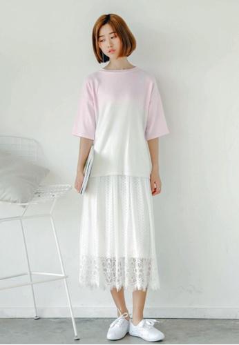 Shopsfashion white Mimosa Lace Maxi Skirt SH656AA89KPESG_1