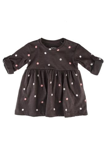 FOX Kids & Baby grey Baby-Girls Polka Dot Dress 62B2DKA2D1F776GS_1