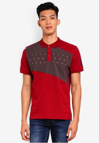 Marc & Giselle red Fashion Polo Shirt 6EF2EAA2E24121GS_1
