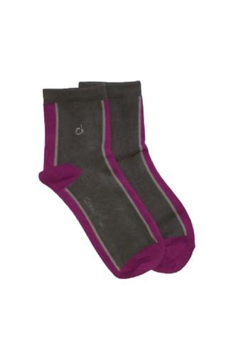 Calvin Klein Socks pink and grey Calvin Klein Women Soft Touch Ankle Socks 88400AAB05E6FEGS_1