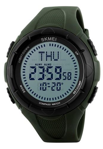 Digitec green Skmei Compass Watch - Jam Tangan Pria - Green - Resin Strap - 1232-B E3D75AC18E0D1AGS_1