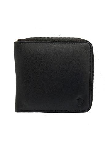 Oxhide black Oxhide Leather Black Wallet with Zip Around 5D427AC240490EGS_1