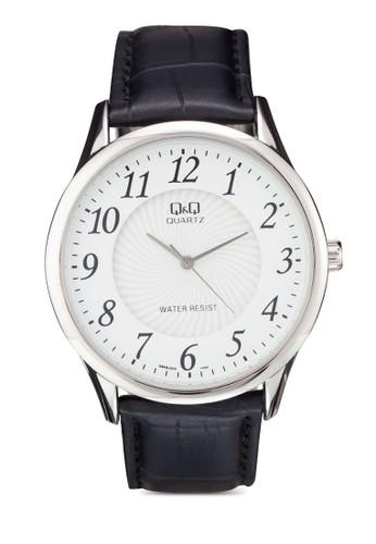 Q&Q Q948J304Y 圓框仿esprit門市皮數字手錶, 錶類, 飾品配件