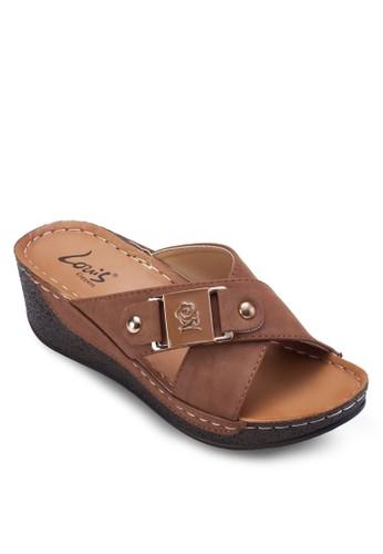 交叉帶esprit台灣厚底涼鞋, 女鞋, 楔形涼鞋