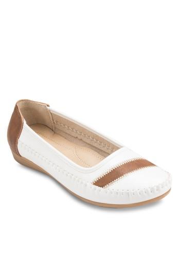 線esprit分店地址條休閒平底鞋, 女鞋, 懶人鞋