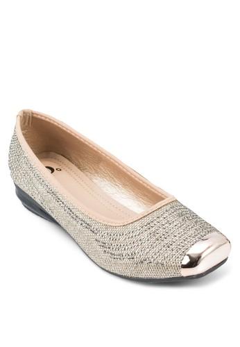 閃飾方頭娃娃鞋, zalora 手錶女鞋, 鞋