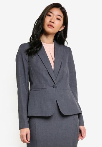 Dorothy Perkins grey Grey Button Blazer DO816AA65DFEMY_1
