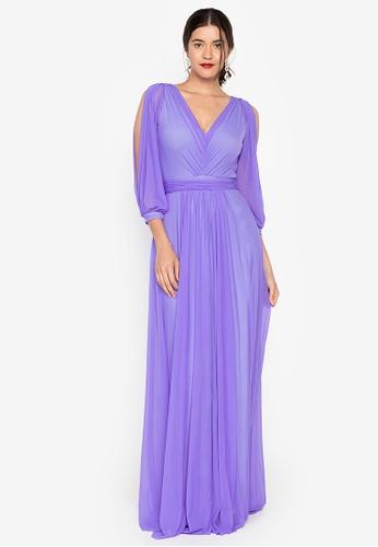 Tantease purple Greta Long Dress 91987AA03142DDGS_1