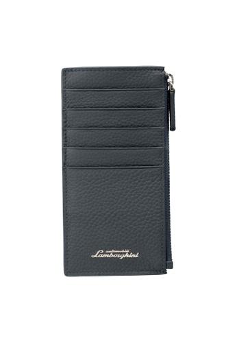 Lamborghini blue Automobili Lamborghini® Script Blue Wallet E7712AC93E47A7GS_1