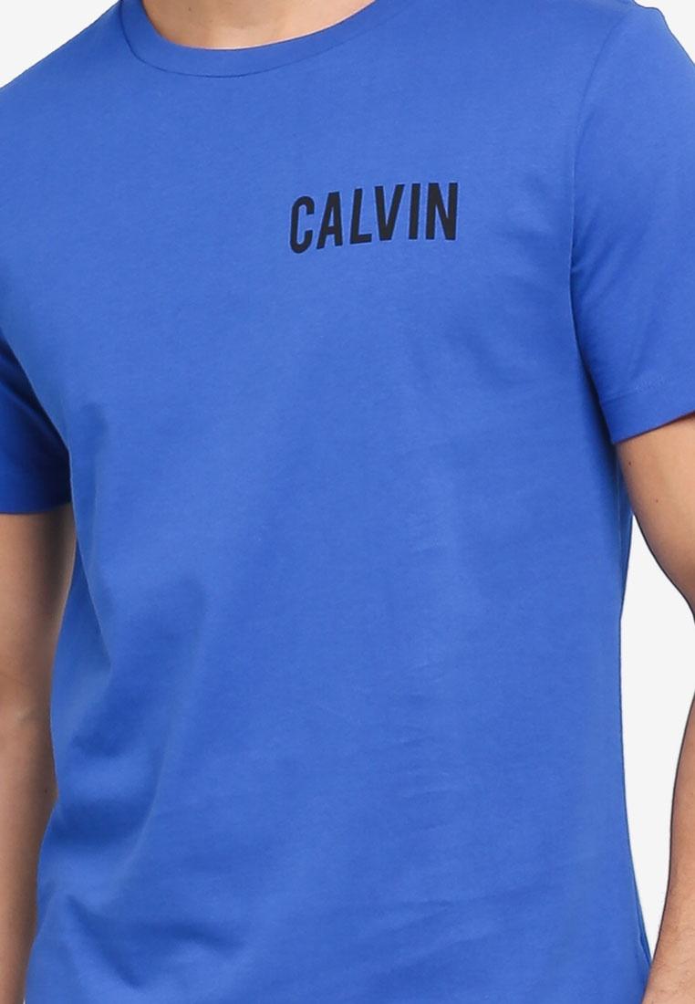 T Sleeve Olympian Neck Klein Jeans Crew Calvin Regular Shirt Calvin Klein Short Blue Toreos wq7RXU4IE