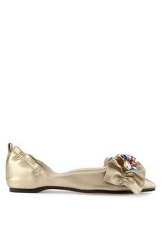 harga Sepatu Wanita Flat Gold Zalora.co.id