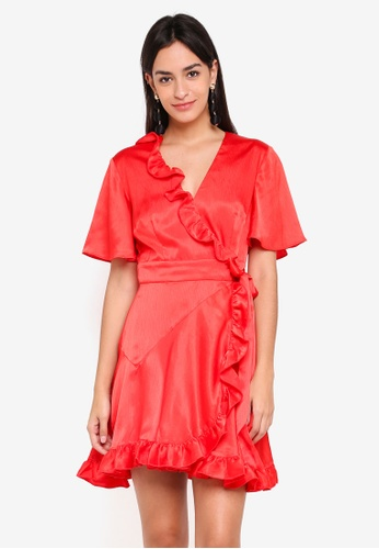 Finders Keepers red Retrograde Dress CD74CAAF5FDF2DGS_1