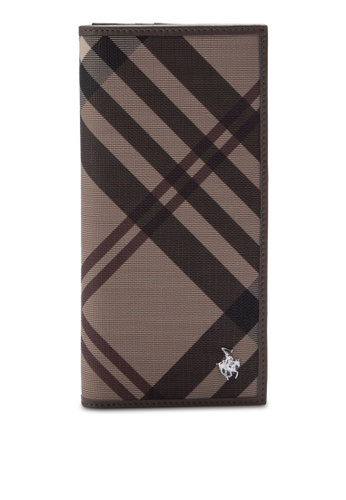Swiss Polo brown Striped Wallet SW912AC26ZXTMY_1