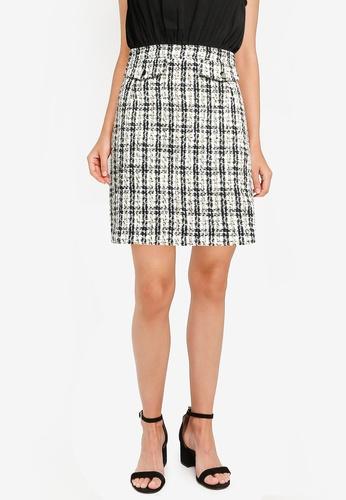 ZALORA WORK multi Contrast Tweed Mini Dress E1952AA4807615GS_1