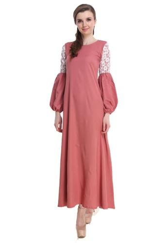 Amar Amran pink Jubah Zara 39679AA3835AA1GS_1