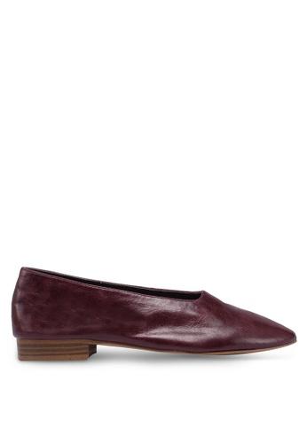 Mango 紅色 皮革平底鞋 E6167SH0B345FCGS_1