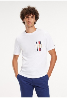 c450e84b Tommy Hilfiger white ICON TH POCKET RELAX FIT TEE FBAADAA5262D3FGS_1