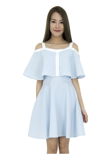 384941986d694e Buy MOONRIVER Fann Off Shoulder Fit And Flare Dress Online on ZALORA ...